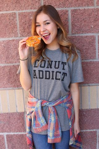Donut addict unisex t-shirt | Lush Fashion Lounge
