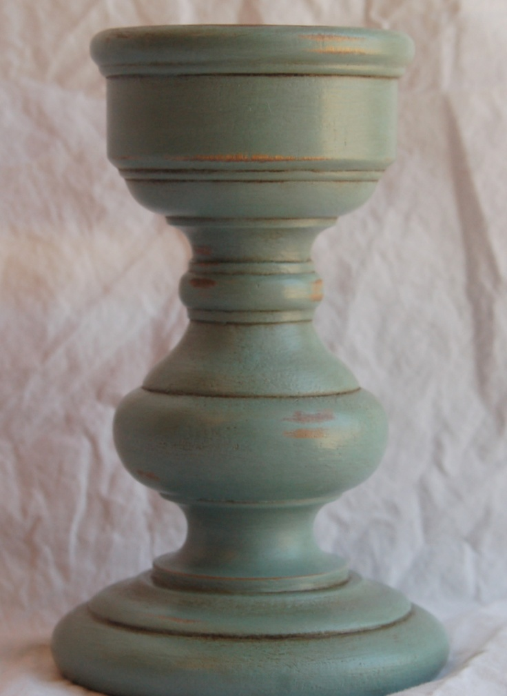 duck egg blue wood pillar candle holder shops pillar With best brand of paint for kitchen cabinets with pillar candles and holders