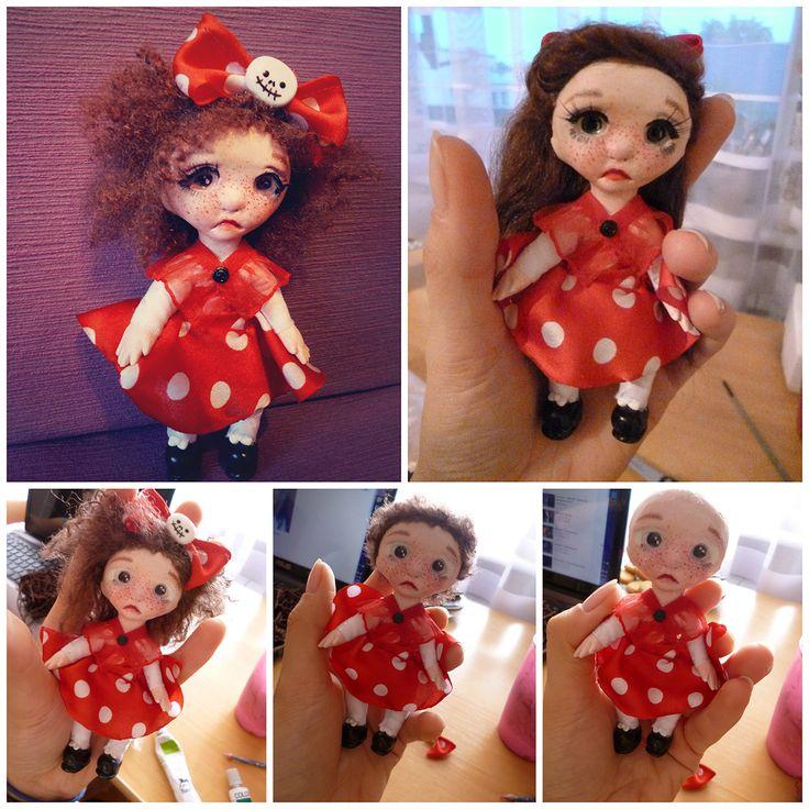 Doll revamping #ooakdolls #artdoll #miniatureclay