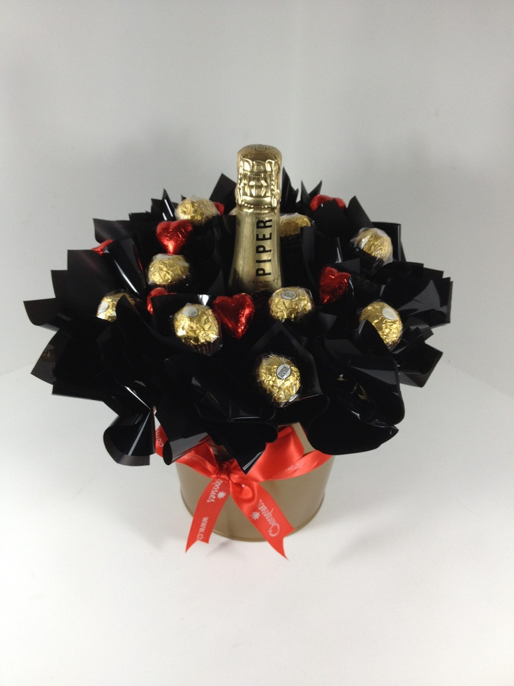 Chocolate Bouquet Champagne & Chocolates