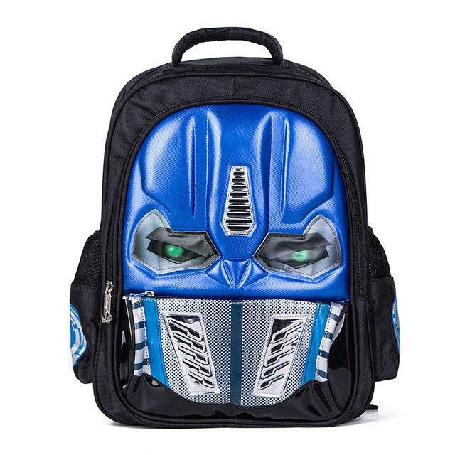 New Arrival LED Flashing Robot Children Backpacks Cool School Bags For Boys Kids Elementary Schoolbag Mochila Christmas gifts
