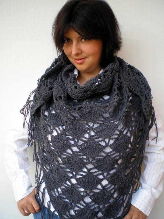 Sharon Triangular Scarf Super Soft Acrulic Shawl by NonnaLia, $67.00