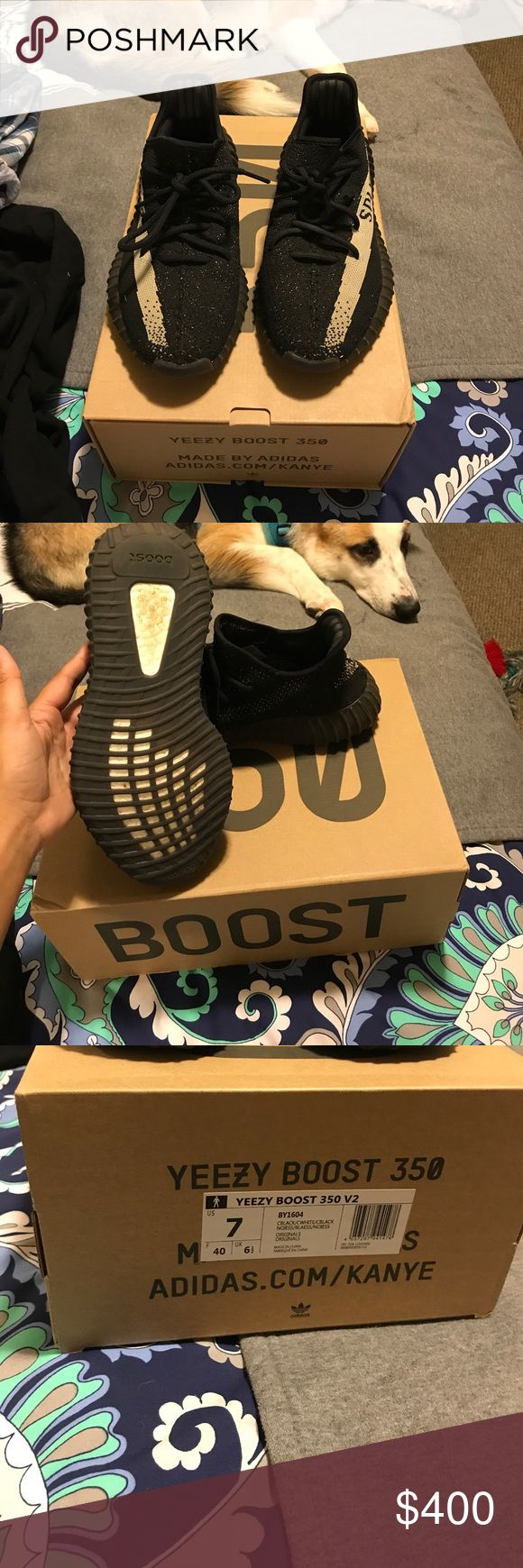 Yeezys Boost 350 V2 Oreo Used Yeezy Boost 350 V2 Oreos. They are used and have normal dirt on the bottoms, but everywhere else is like new. Includes box and original paper as well. Size 7 men's, 8 wowens, euro 40. I will accept reasonable offers, need money soon! Yeezy Shoes Sneakers