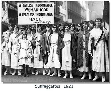 New York City women's rights protesters, 1921