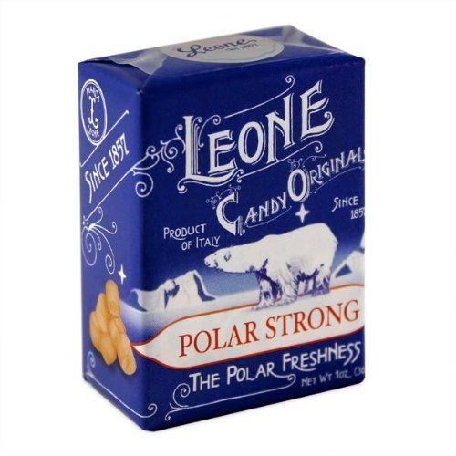 Pastiglie Leone Polar Strong Flavor Candy Mints In Retro Box