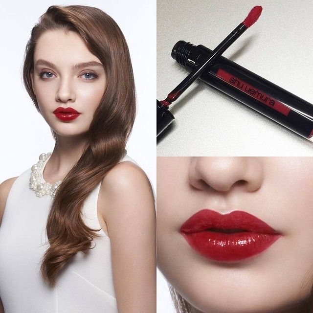 """This classic sleek look is a tribute to Mr. shu uemura himself. The RD04 """"shu red"""" shade was created to mimic his favorite red."""