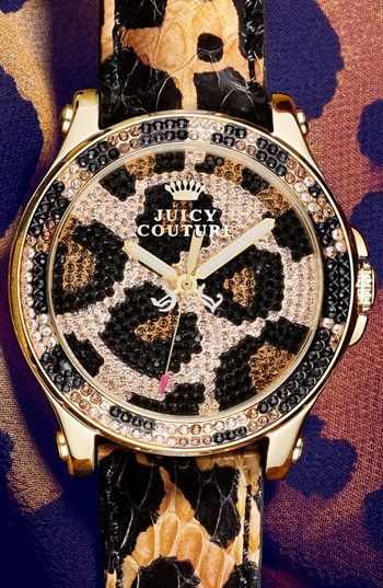 Juicy Couture 'Pedigree' Leopard Pattern Watch http://rstyle.me/n/drfrjnyg6