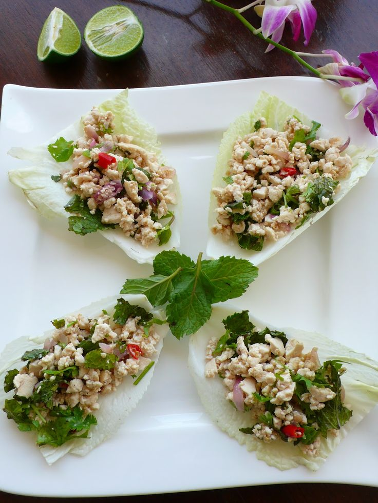 Tofu Larb in Lettuce Cups | Awesome Vegan Recipes | Pinterest