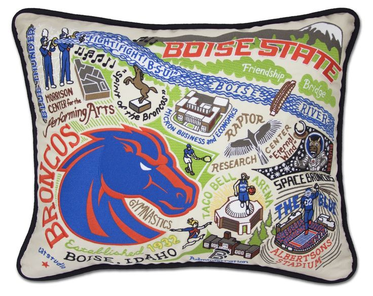 CatStudio Embroidered Boise State University Pillow