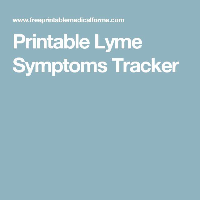 Printable Lyme Symptoms Tracker