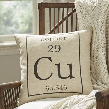 Copper Periodic Table Pillow Cover