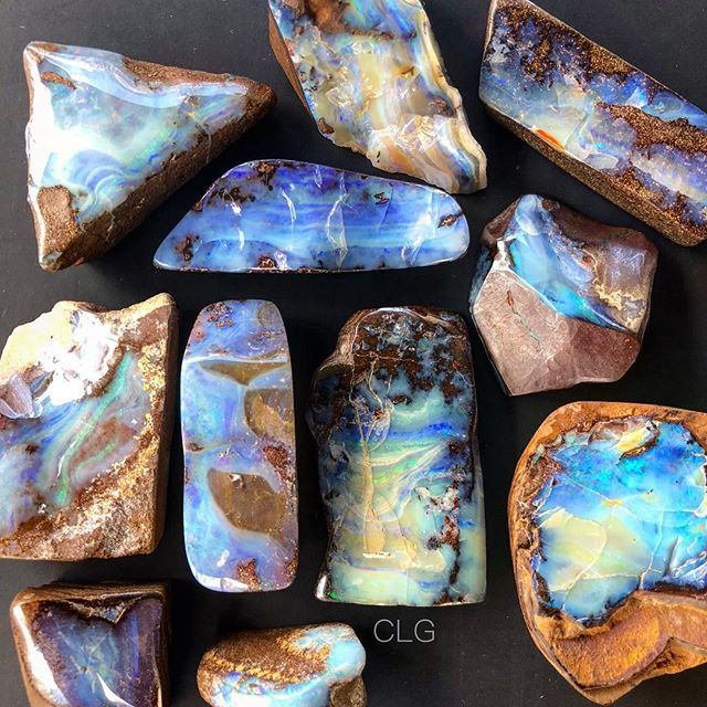 And Then There Were The Boulder Opals Each One Hand Picked By Me For Its Loveliness Play Of Color And Affordability At The Tucs Boulder Opal Crystals Opal