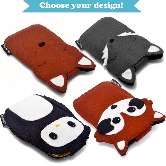 Keep your iPhone or iPod safe from scratches with a cute animal case. Its perfect for protecting your gadget when its in your bag or for peeking out