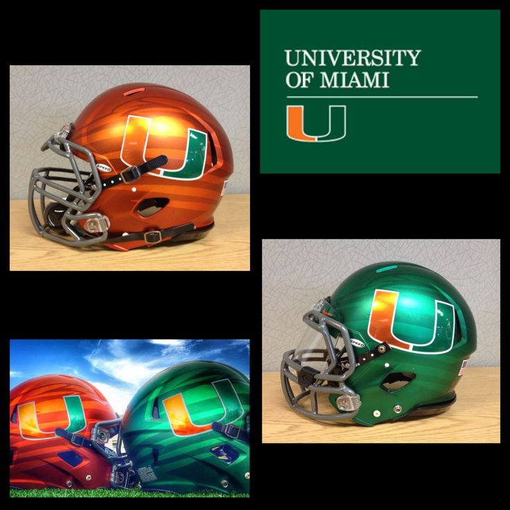 HELMET OF THE DAY!  We got an up close look at the 2014 Miami Hurricanes football helmets, Juice and Surge. Look great, play great!  #ChromeFootballHelmetDecals #ChromeFootballDecals #ChromeDecals #FootballHelmetDecals #FootballDecals #HelmetDecals #HelmetSwag #UniSwag #HealyAwards #NationsToughestDecals