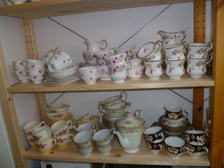 Lots of lovely china originally collected for my daughter's wedding ...