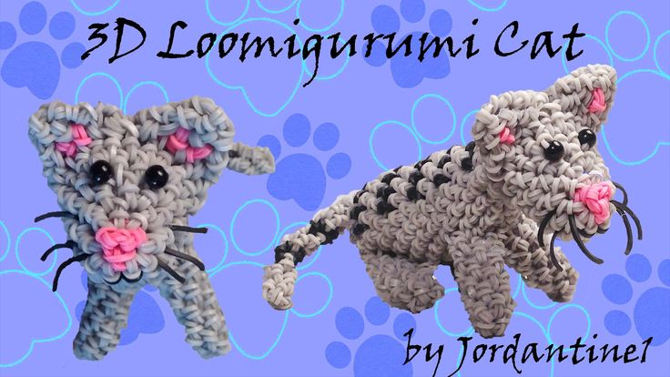 New 3D Loomigurumi Amigurumi Cat / Kitten - Rubber Band Crochet ...