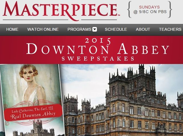 Calling all Downton Abbey Fans, the PBS 2015 Downton Abbey Sweepstakes is here! Are you desperate to visit Highclere castle and see the magic!