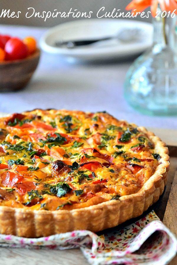 Quiche à la tomate et au chèvre #quiche #tarte #tomate #tomatoes #easyrecipe #recipe #recipeideas #recipes_to_go