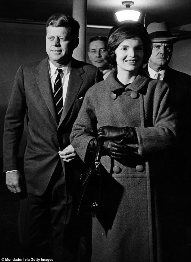 Jackie Kennedy votes for the presidential elections with her Democratic candidate husband JFK in Boston on November 8, 1960