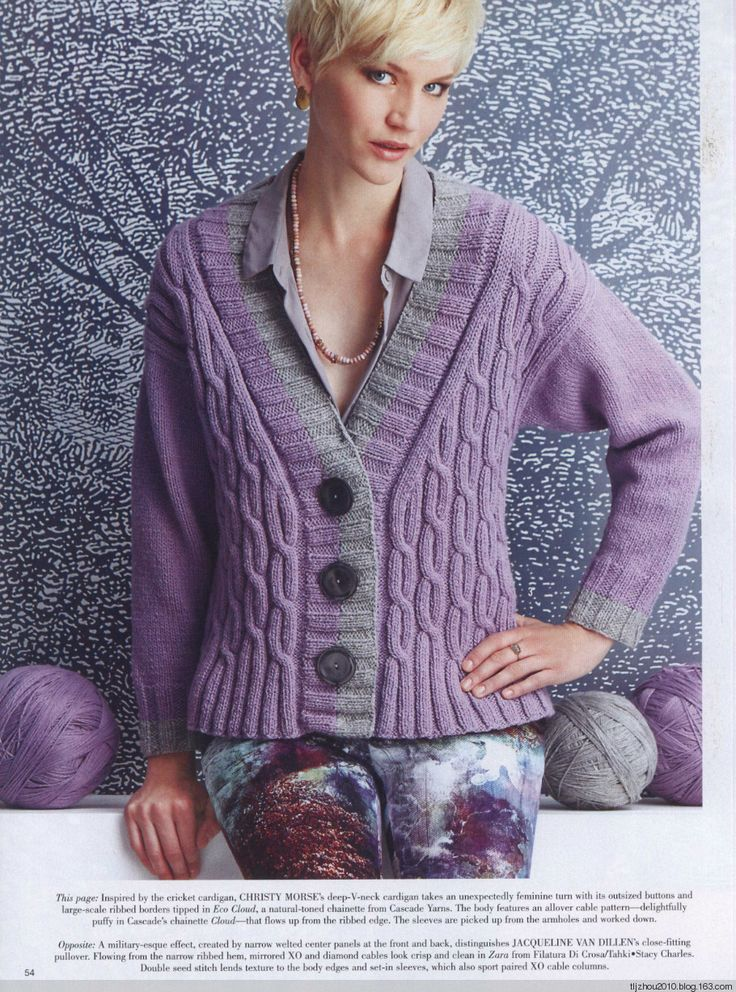 Vogue Knitting Cardigan Pattern : 10+ images about Knitting - Blouses,Pullovers,Jackets on Pinterest Cable, S...