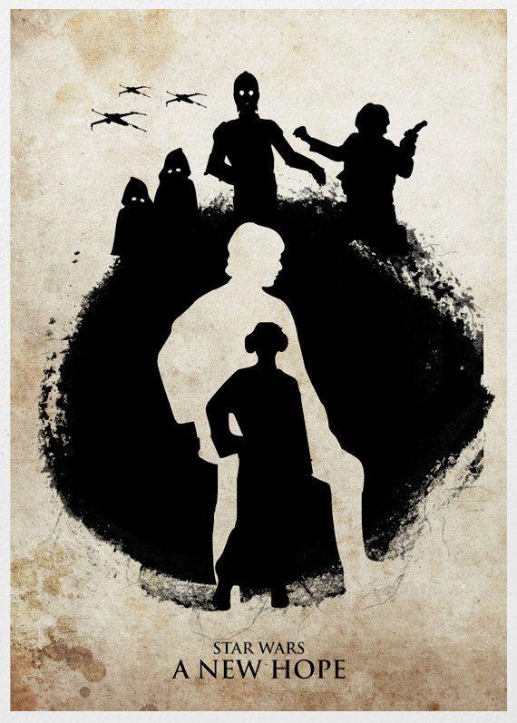 Star Wars Trilogy 11x17 Poster Set by sanasini on Etsy