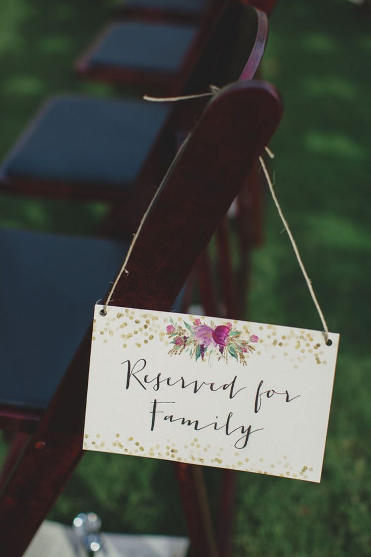 Reserved Wedding Ceremony Sign - Rustic Elegance at the Streamsong Resort - Central Florida Wedding - Orange Blossom Bride - Photo: Ashley Jane Photography - Wedding Planner: Anna Christine Events - click pin for more - www.orangeblossombride.com