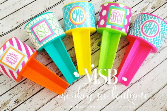 Personalized Beach Spikers by monkeyseeboutique on Etsy, $12.00