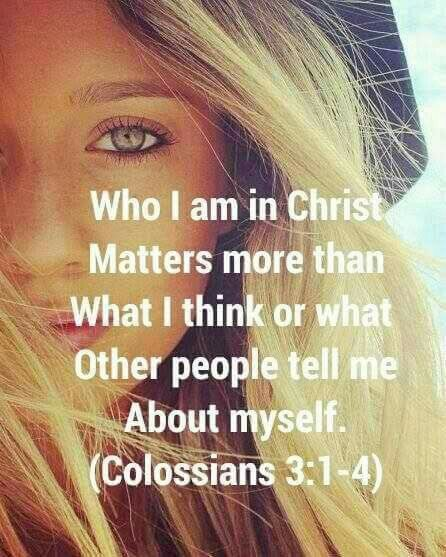 Who I am in Christ matters more than what I think or what other people tell me about myself. ❤ #mytruth #mysavior #mypeace