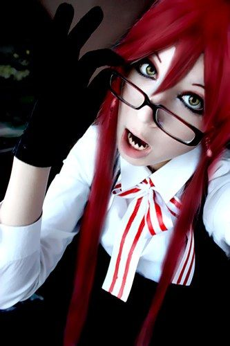Black Butler Grell cosplay I'm not the biggest fan of Grell but this cosplay needs to shine!