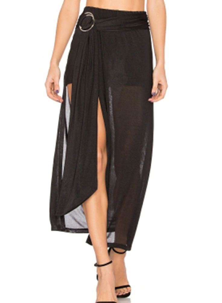 25 best ideas about sheer maxi skirt on