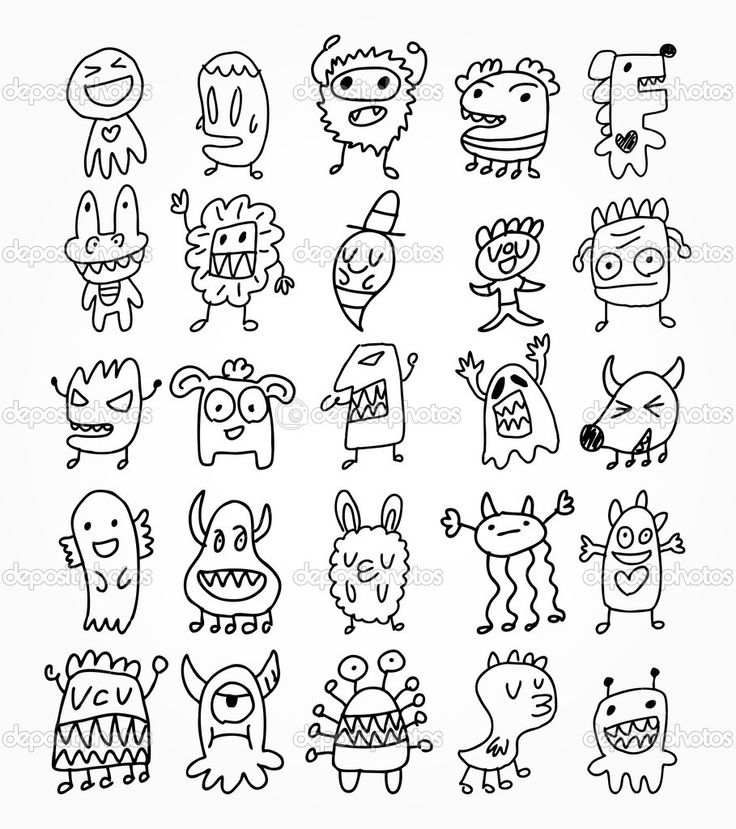 funny little creature drawings - Google Search