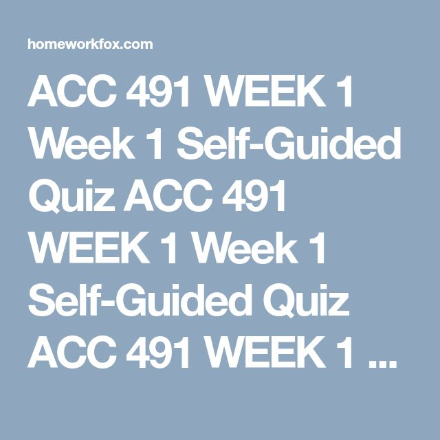 acc 491 week 5 team study Get better grades in less time 100% satisfaction guarantee description for this study guide: includes study guides for: week 1 individual assignment generally accepted auditing standards paper week 2 individual assignment ch 1 textbook exercise week 2 team assignment auditing, attestation, and assurance services paper week 3 individual.