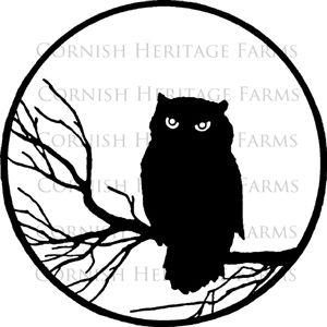 Vintage Halloween Silhouettes | Halloween Owl Silhouette