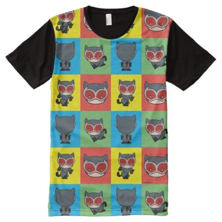Chibi Catwoman Character Poses All-Over-Print T-Shirt - tap, personalize, buy right now!