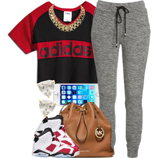 Red Adidas., created by livelifefreelyy on Polyvore