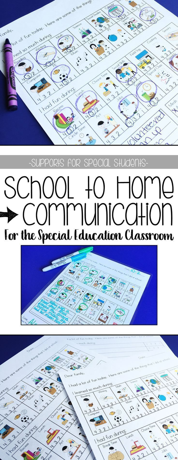 Save time and empower ALL students to communicate with their families about their school day! These customizable communication sheets are quick and easy to use. Both elementary and secondary versions are included.