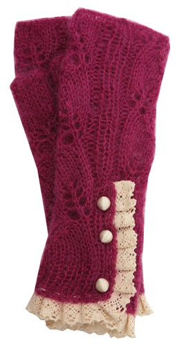 Mohair Lacy Fingerless - Magenta These go with the sock boots, so I had to put them in this grouping. These are beautiful and I want these to go with the sock boots :)