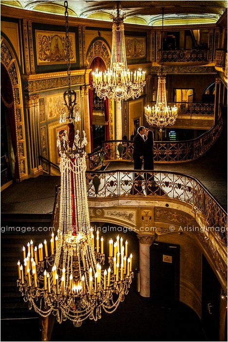 Stunning Engagement Photos at the Detroit Opera House with Arising Images.