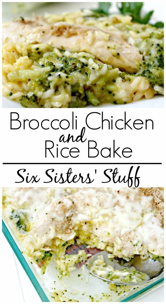 Broccoli Chicken and Rice Bake from SixSistersstuff.com - and it only takes one pan to make it!