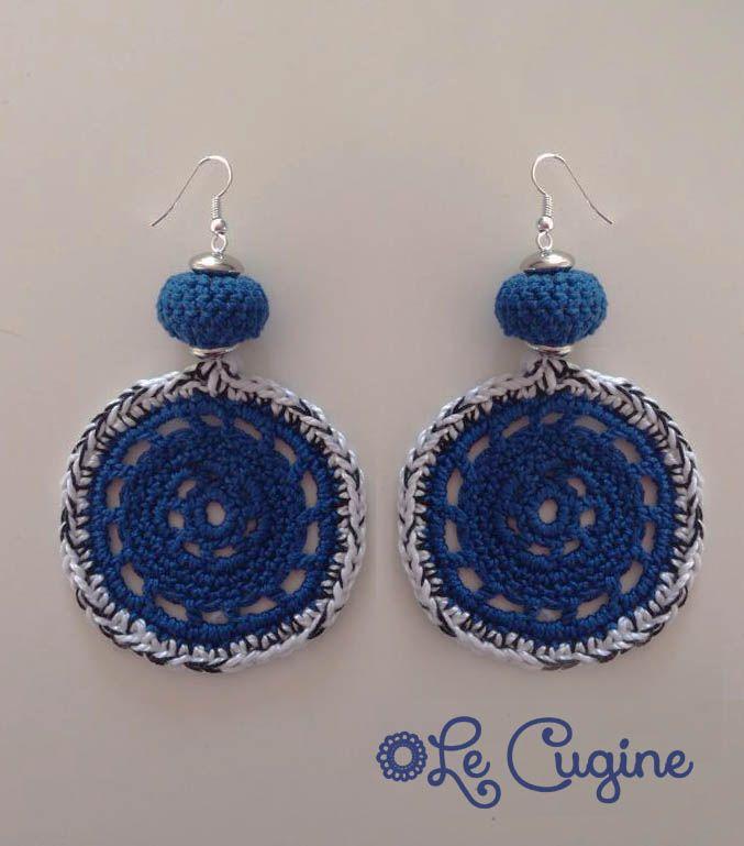 #creazioni #fattoamano #handmade #orecchini #uncinetto  #pietre #crochet