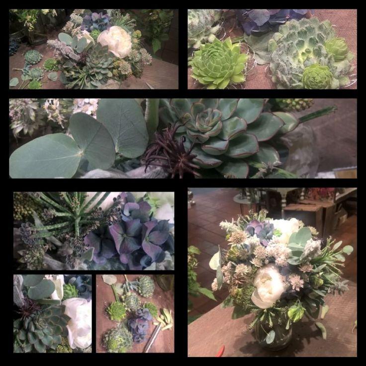 """23 likerklikk, 1 kommentarer – Botanica Blomster (@botanicablomster) på Instagram: """"Brudebukett i grå- blå- grønne farger. #sukkulenter #sukkulent #succulents #succulent #peon #peony…"""""""