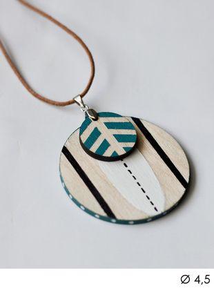 diy handmade necklace pendant pastel etno indian wood