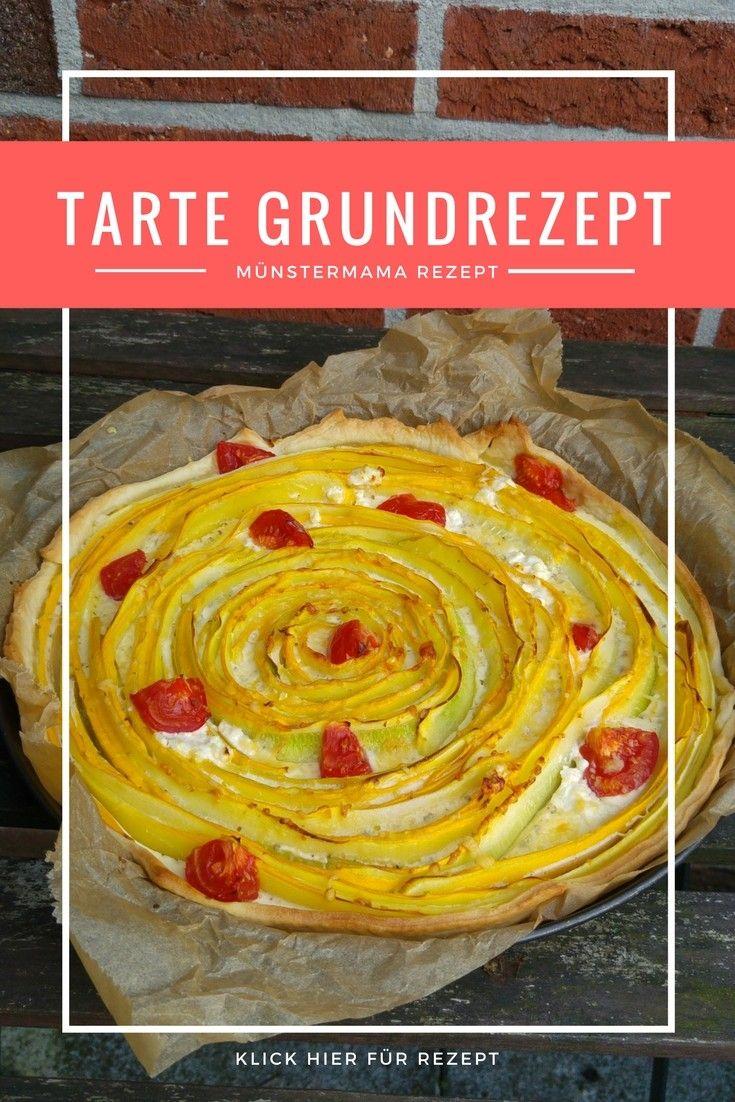 Rezept für herzhafte Tarte. Ein Grundrezept mit vielen Ideen für Variationen. Als Gemüsetarte, Tomatentarte, Tarte mit Vollkornmehl oder Dinkeltarte...mit und ohne Guss
