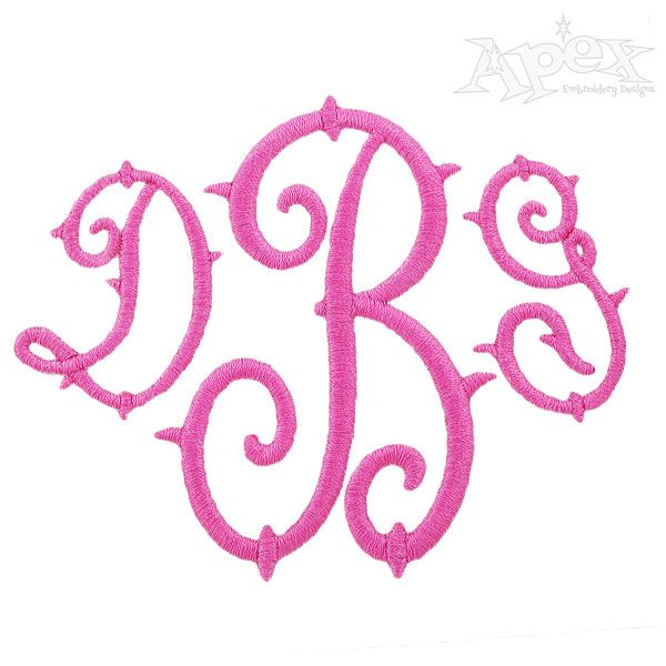 Best embroidery files monograms images on pinterest