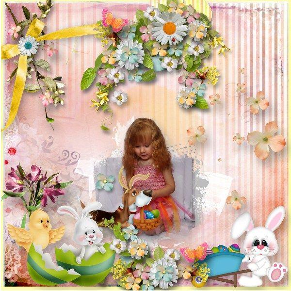 ESSENTIALLY EASTER  http://www.anntaurus.com/project/essentially-easter-digital-scrapbook-kit/ Template: Garden Party by Heartstrings Scrap Art  Photo: Anastasiya-landa via Deviant art