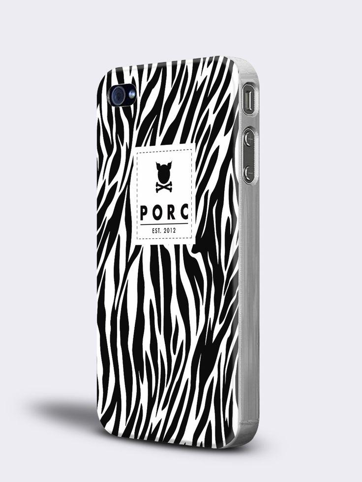 """Zebra"" White iPhone 4 / 4S Case"