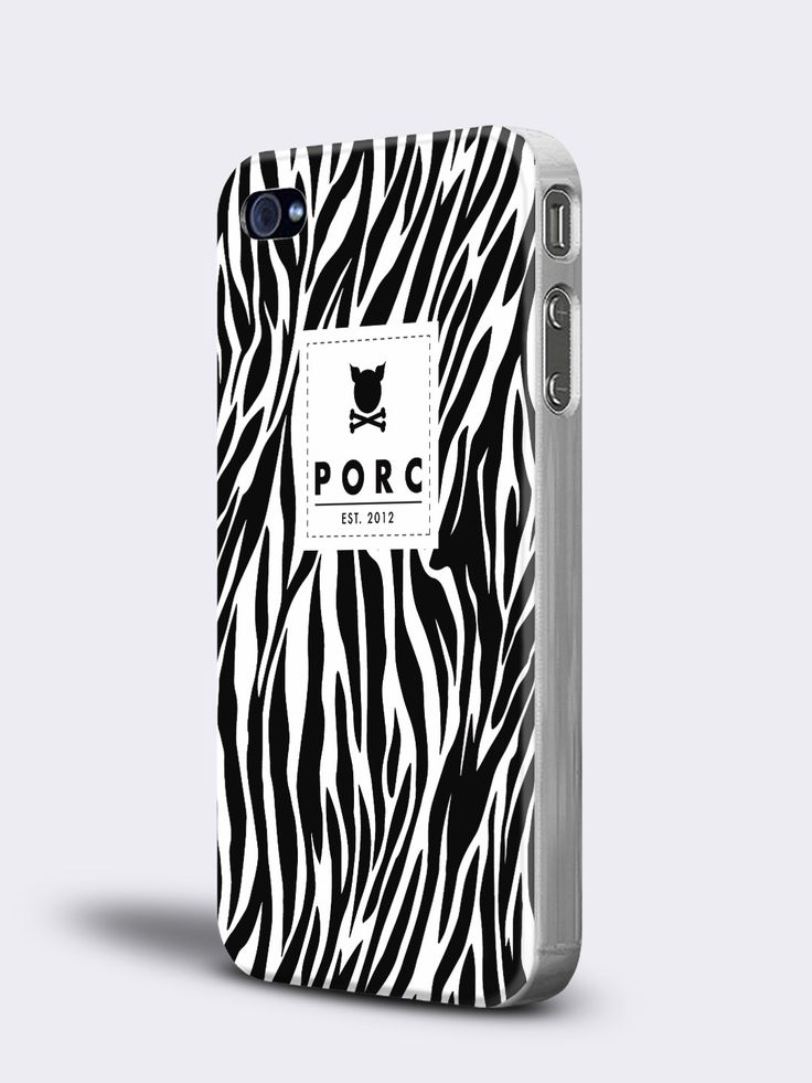 """Zebra"" White iPhone 4 / 4S Case"