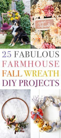 25 Fabulous Farmhouse Fall Wreath DIY Projects