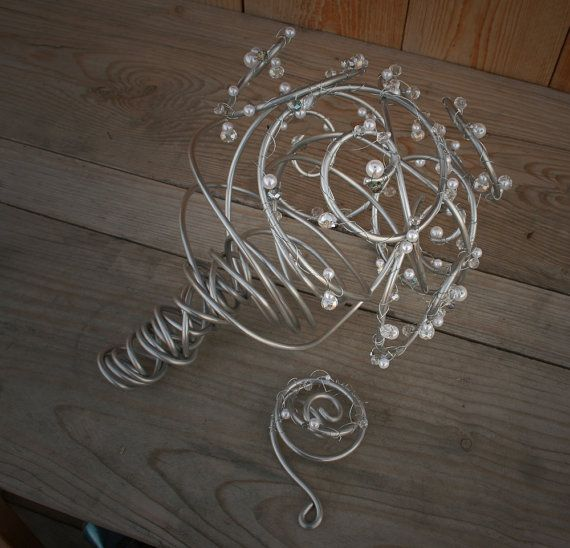 Crystal and Pearl Bouquet: A Metal Arrangement for the Offbeat Bride