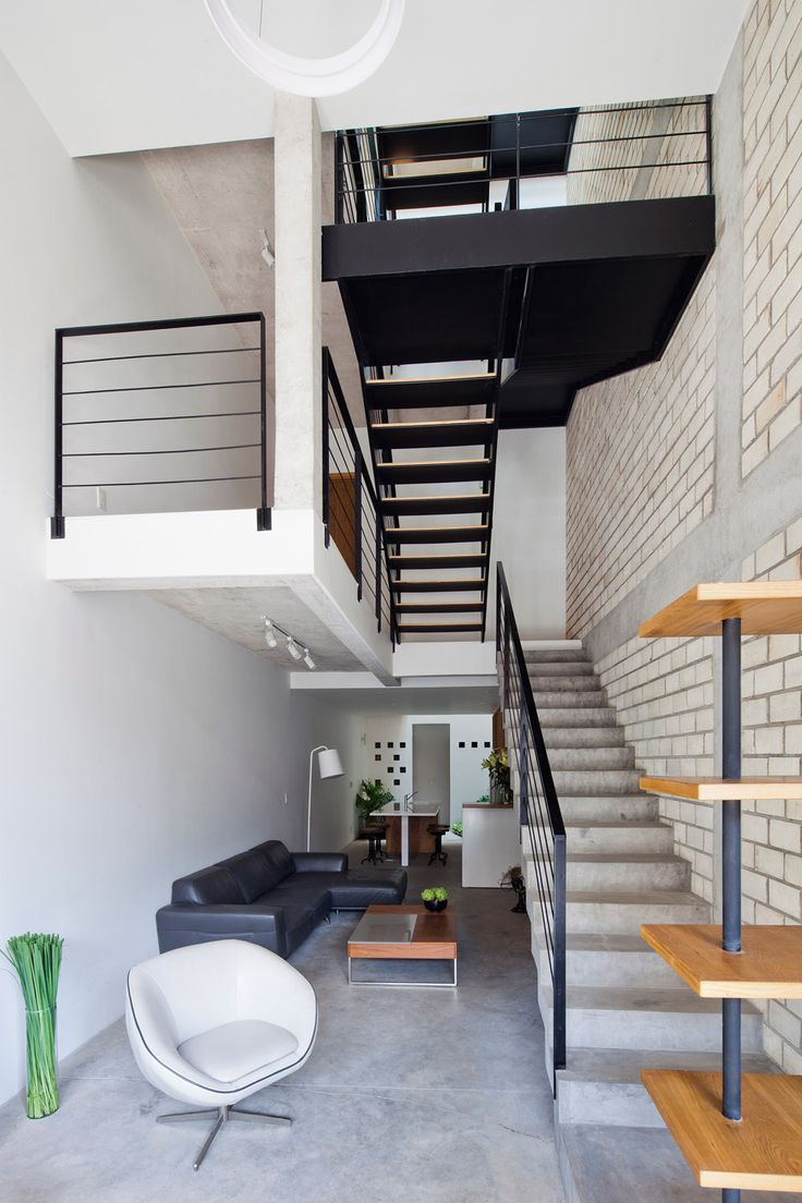 architecture houses interior. Vietnamese Studio MM++ Architects Has Squeezed A Contemporary Shophouse Into Four-metre-wide · House InteriorsModern Architecture Houses Interior